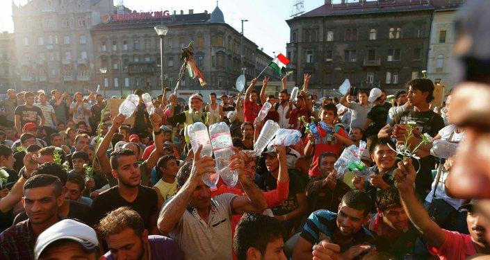 Migrantes en Budapest