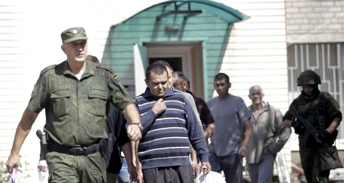 Prisioneros de guerra en Donetsk