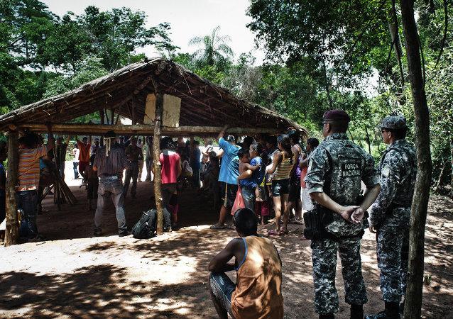 El Ejército de Brasil actúa en el conflicto entre indígenas y granjeros en Mato Grosso