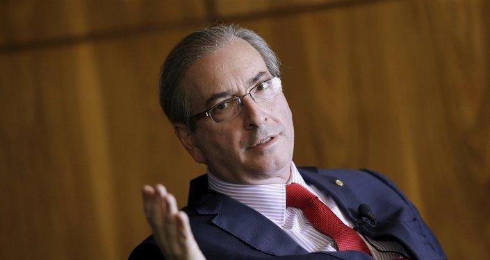 Eduardo Cunha, presidente apartado de la Cámara de Diputados de Brasil