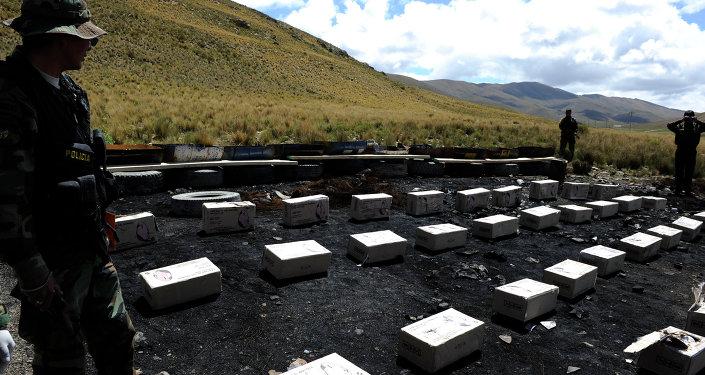 La cocaína confiscada en Bolivia (archivo)