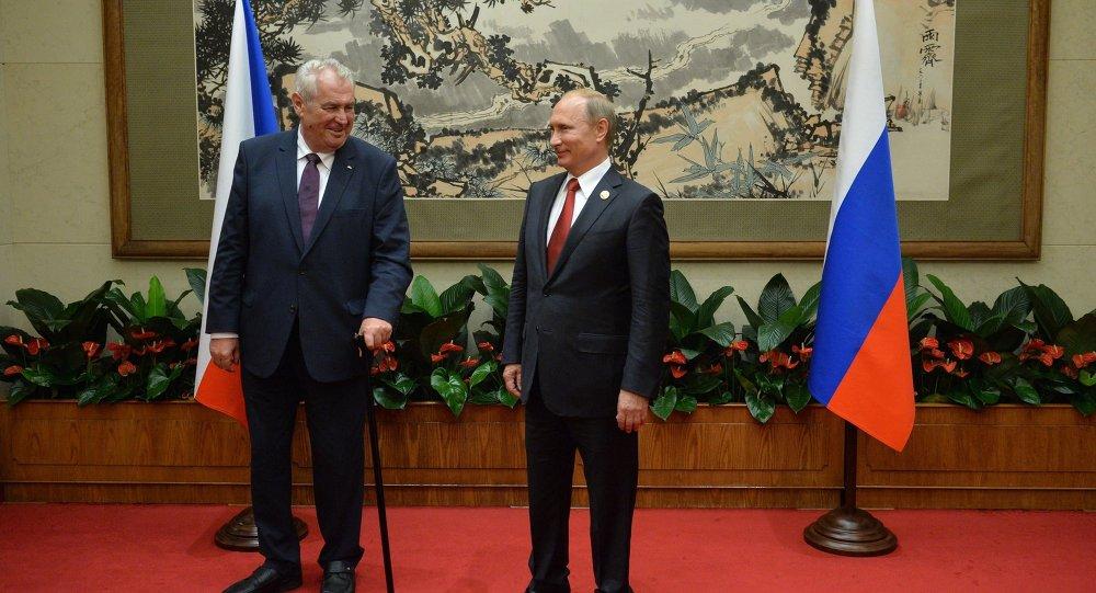 Presidente de la República Checa, Milos Zeman y presidente de Rusia, Vladímir Putin
