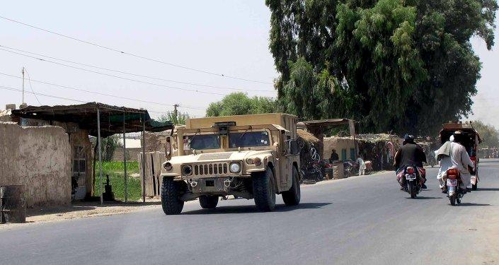 Coche de la Policía Nacional Afgana