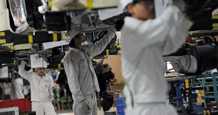 Fabricación de automóviles Honda (archivo)