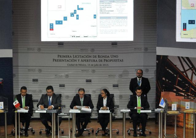 Los miembros de la Comisión Nacional de Hidrocarburos de México