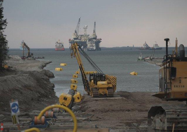 Construcción de sección de gasoducto Nord Stream en mar Báltico