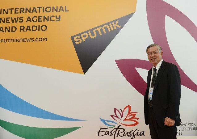 Shigeru Murayama, jefe de la compañía Kawasaki Heavy Industries y presidente de la asociación japonesa de comercio con Rusia y países emergentes (ROTOBO)
