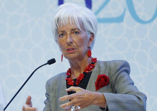 Christine Lagarde, directora del Fondo Monetario Internacional (FMI)