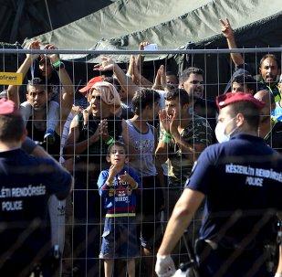 Refugiados sirios en Hungría (archivo)
