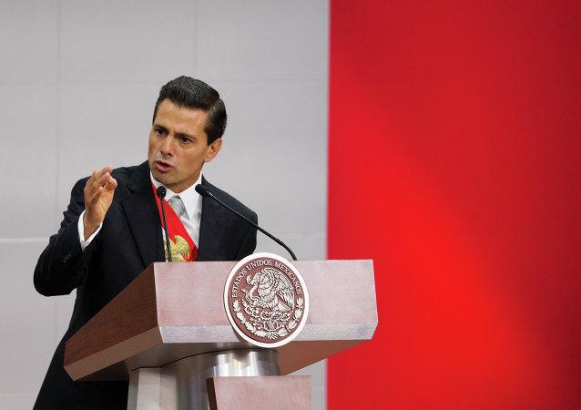 El presidente de México, Enrique Peña