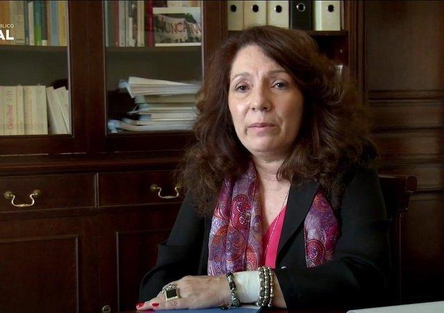La fiscal Cristina Caamaño