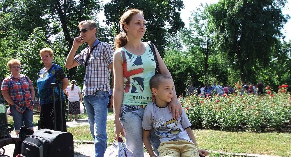 Niño de Donetsk va de vacaciones a Rusia