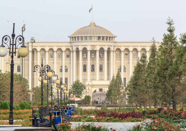 Palacio presidencial en Dusambé, capital de Tayikistán