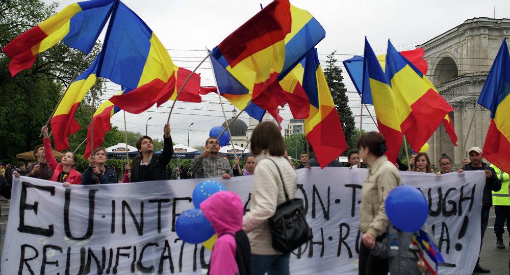 Protestas en Moldavia