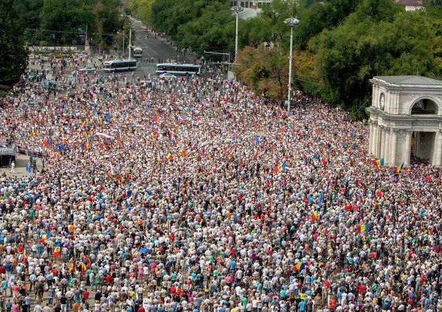 Protestas antigubernamentales en Moldavia