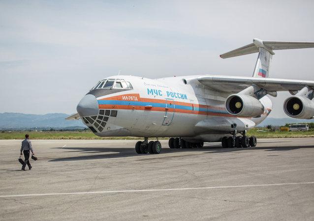 Avión ruso con ayuda humanitaria en Siria (archivo)