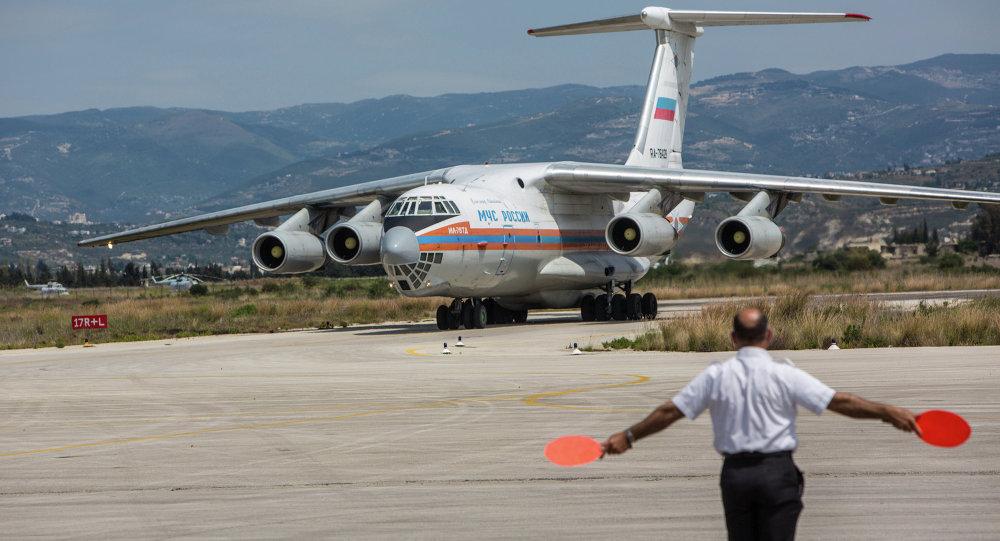 Avión ruso con ayuda humanitaria en Siria