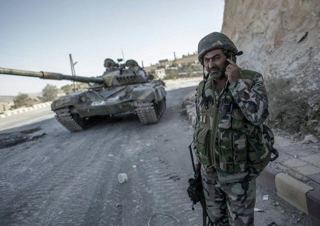 Soldado sirio en Malula (Archivo)