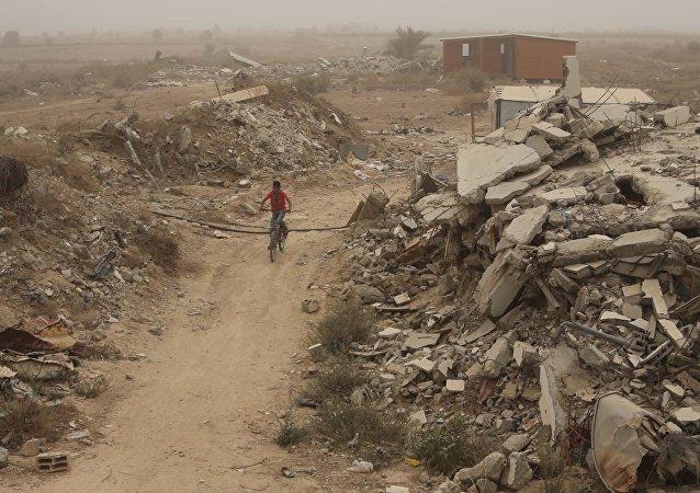 Situación en Franja de Gaza (archivo)