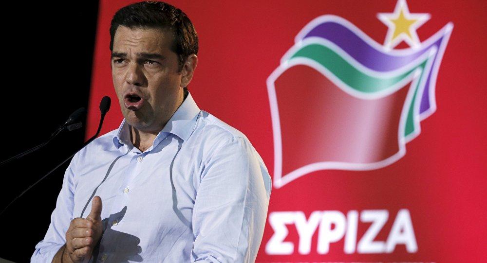 Alexis Tsipras, exprimer ministro de Grecia, durante una reunión del partido Syriza