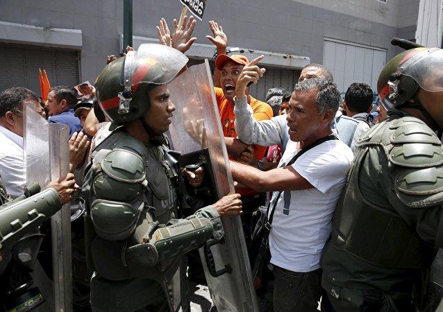 Disturbios en Caracas