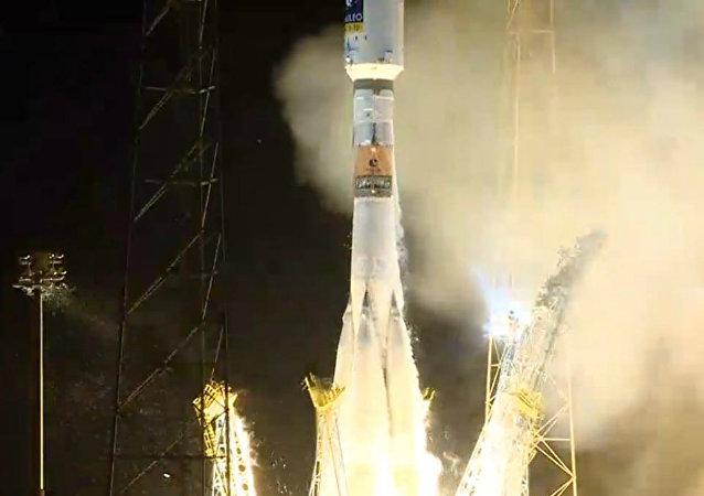 Lanzamiento de Soyuz-ST ruso desde el cosmódromo de Kourou (archivo)