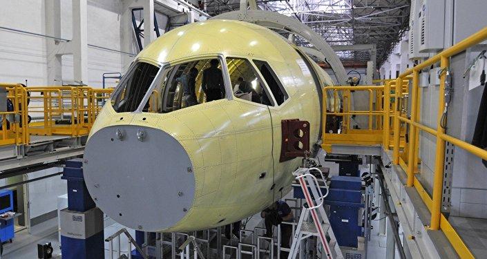 Construcción del avión civil MS-21