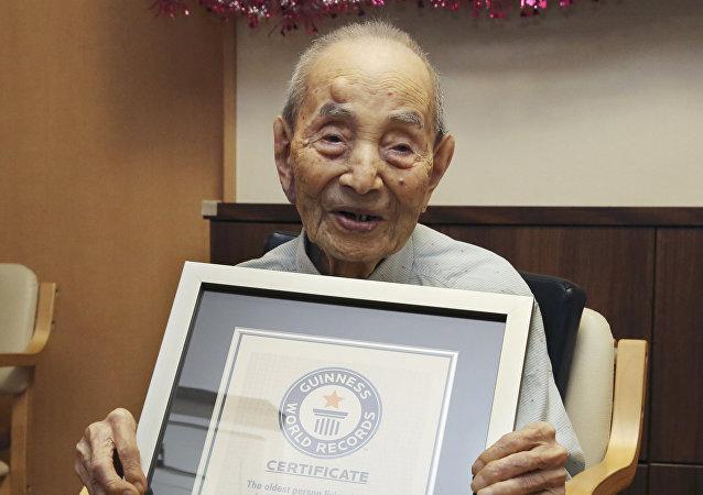 Yasutaro Koide, Japón, el hombre más viejo del mundo
