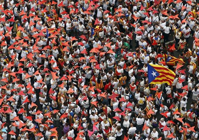 Partidarios de la independencia de Cataluña en Barcelona, 2015