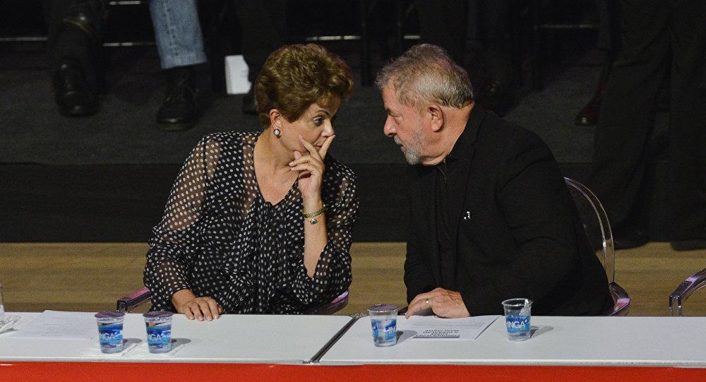 La presidenta de Brasil, Dilma Rousseff, y el exmandatario del  paìs, Luiz Inácio Lula da Silva