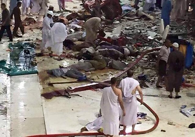 Caída de una grúa en la Gran Mezquita de la Meca
