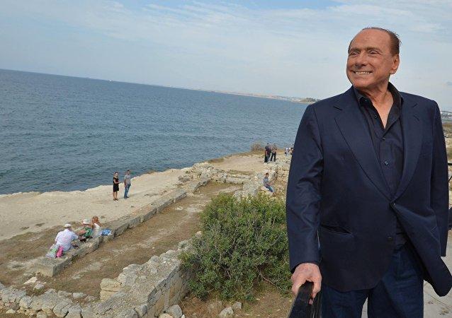 Ex primer ministro de Italia, Silvio Berlusconi en Crimea