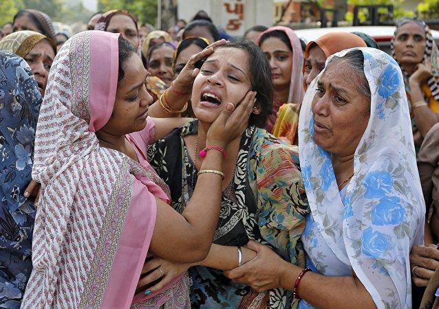Lugar de la explosión en el distrito de Jhabua del estado de Madhya Pradesh, la ciudad de Petlawand, India