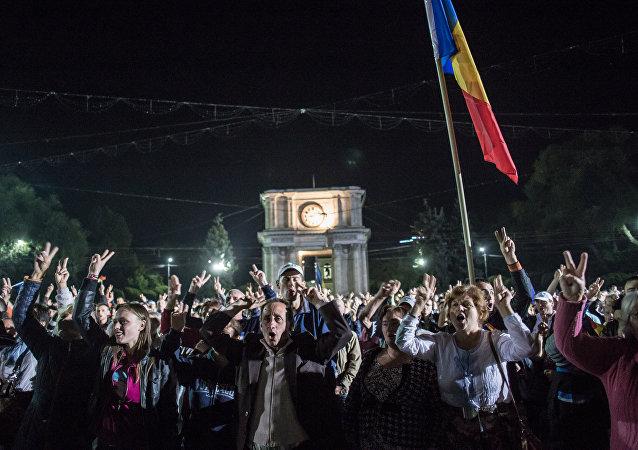 Protestas multitudinarias en Chisinau