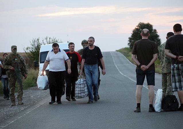 Liberación de prisioneros de guerra en Donetsk