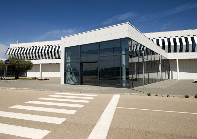 Terminal principal del aeropuerto fantasma Castellón, Valencia