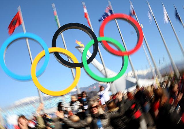 Emblema olímpica en Sochi (archivo)