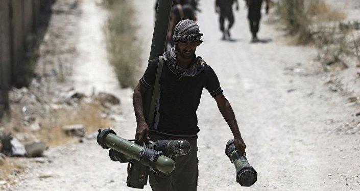 Militantes del Ejército Libre Sirio en Jobar (archivo)