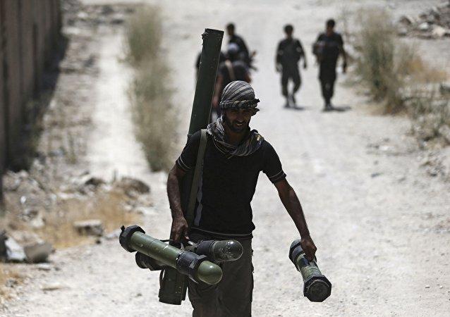 Un miembro del Ejército Libre Sirio (ELS)