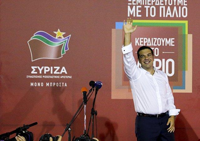 El dirigente de Syriza, Alexis Tsipras