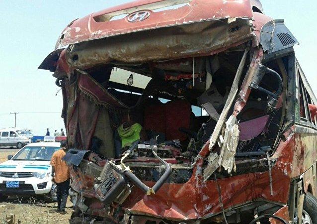 Colisión de autobuses en Sudán