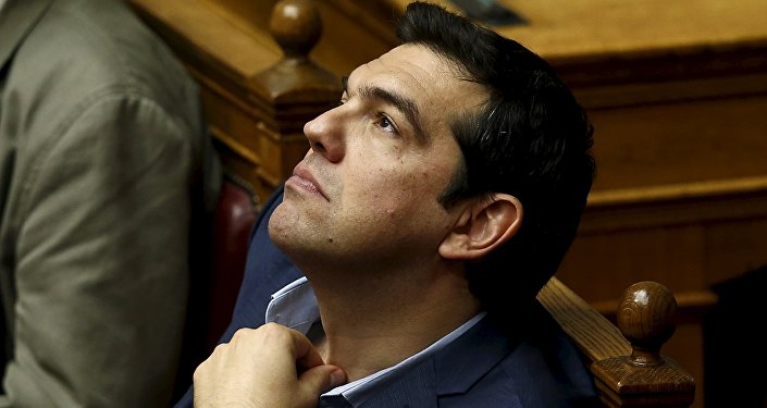 Greek Prime Minister Alexis Tsipras looks on during a parliamentary session in Athens, Greece July 23, 2015.