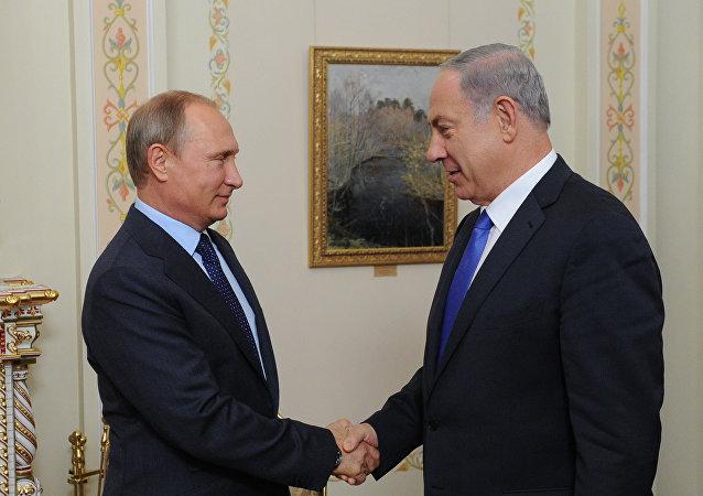 Presidente de Rusia, Vladímir Putin, y primer ministro israelí, Benjamín Netanyahu