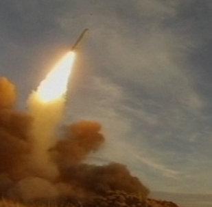 Sistema de misiles Iskander en acción