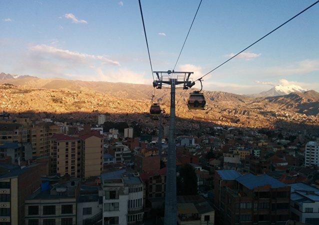 Teleférico La Paz-El Alto (archivo)