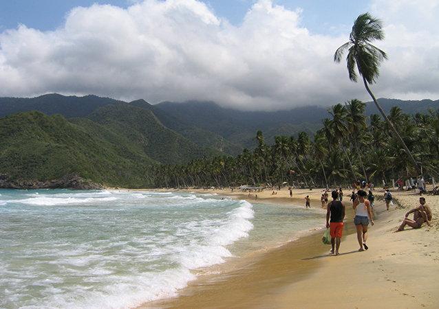 Playa de Choroni en Aragua, Venezuela