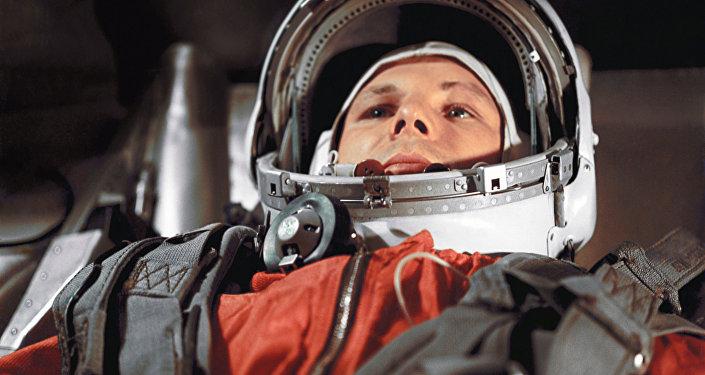 El cosmonauta soviético Yuri Gagarin.