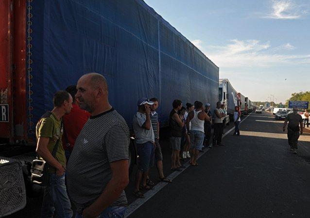Activistas ucranianos bloquearon la frontera entre Crimea y Ucrania
