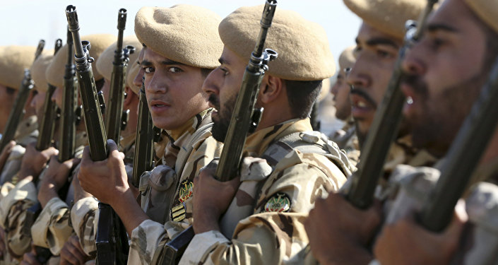 Militares iraníes, foto de archivo