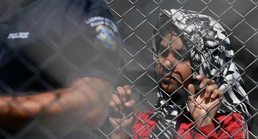Refugiados en la isla de Lesbos, Grecia